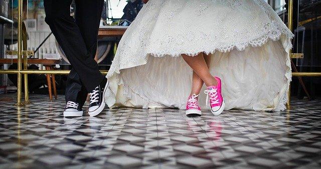 svatební tenisky